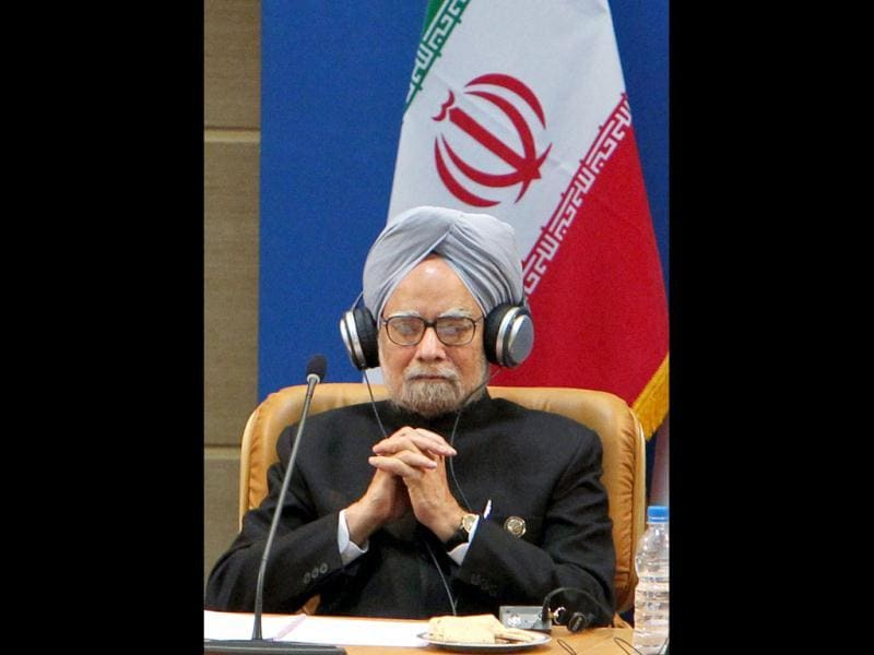Prime Minister Manmohan Singh is seen at the NAM Summit in Tehran. PTI/Atul Yadav