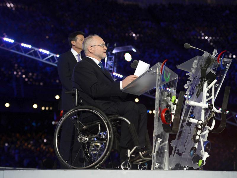President of the International Paralympic Committee (IPC) Philip Craven speaks during the London 2012 Paralympic Games at the Olympic Stadium in east London. AFP Photo