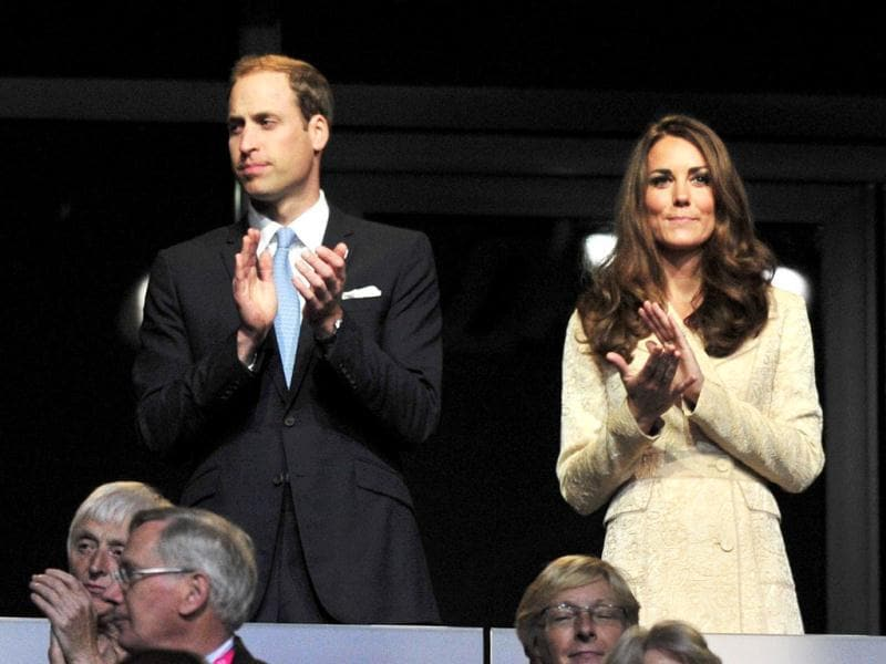 Britain's Prince William and his wife Catherine, Duchess of Cambridge stand in the Olympic Stadium during the opening ceremony of the London 2012 Paralympic Games. Reuters Photo