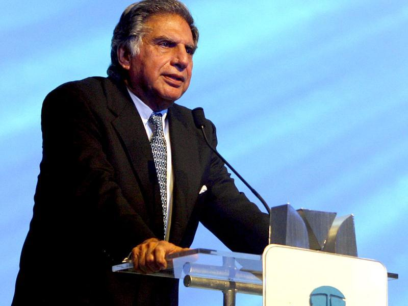 Ratan Tata speaks during the launch of the company's new version of passenger car Tata Indigo XL in Mumbai. Reuters Photo
