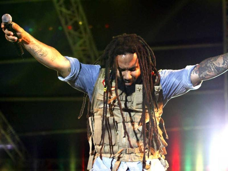 Ky-mani Marley, son of legendary musician Bob Marley, performs during the House of Marley concert at Hasely Crawford Stadium in Port of Spain. Reuters/Andrea De Silva