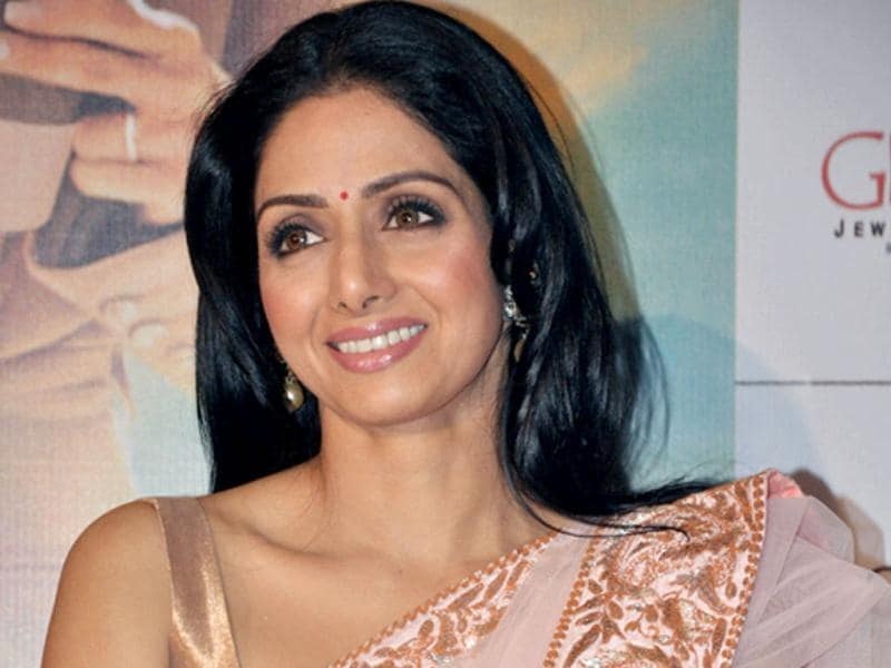 Sridevi has opted for minimal makeup and accessories.