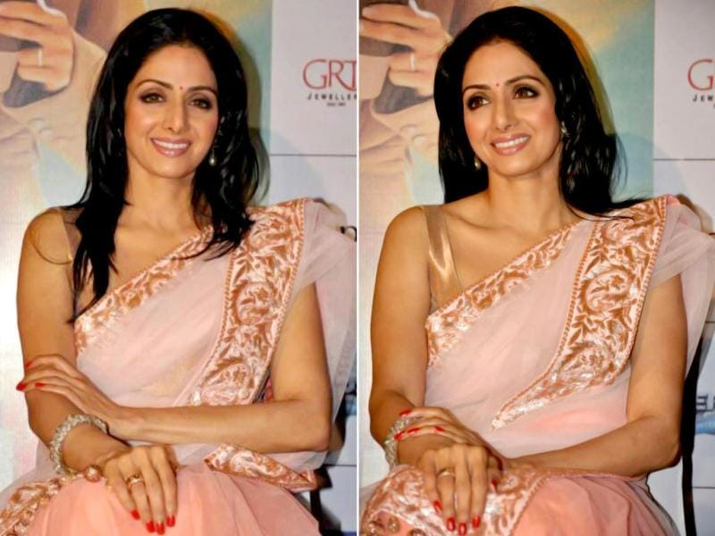 Sridevi looks beautiful at English Vinglish Tamil trailer launch event in Chennai.
