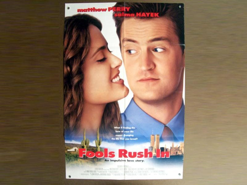 Fools Rush In was a romantic comedy that saw the unusual pairing of Salma Hayek with Matthew Perry.