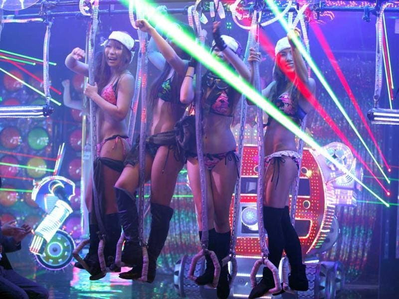 Bikini-clad women perform at the newly opened Robot Restaurant in Kabukicho. Reuters Photo