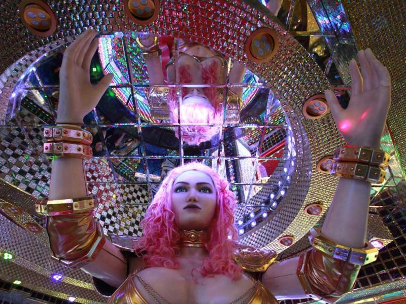 A 3.6 metre-high custom-made female robot is pictured at the newly opened Robot Restaurant in Kabukicho, one of Tokyo's best known red light districts. Reuters Photo