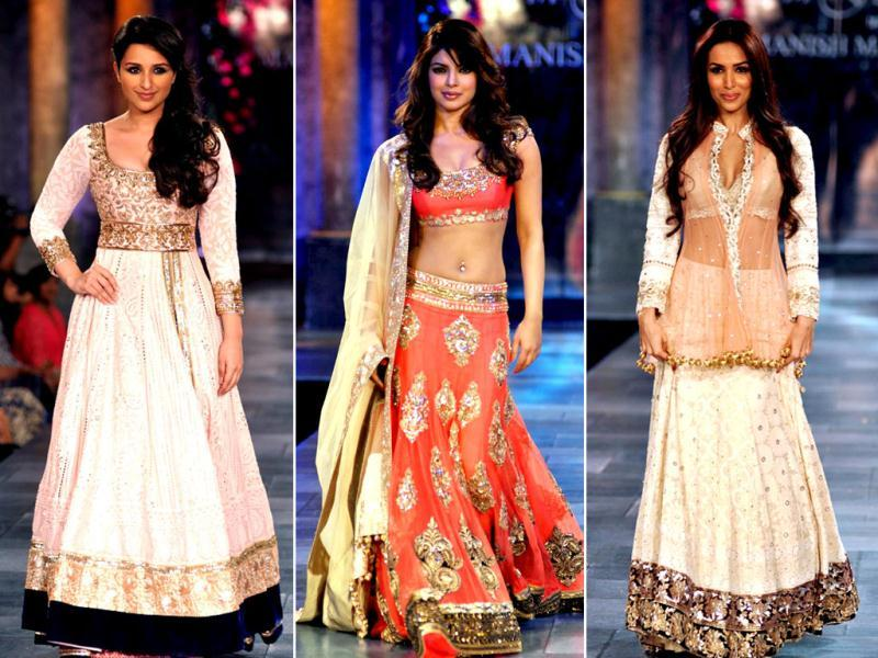 Bollywood came together for a fashion show for Shabana Azmi's charity, The Mijwan Welfare Society, in Mumbai on September 3, 2012. Celebs walked the ramp in designer Manish Malhotra's creations.