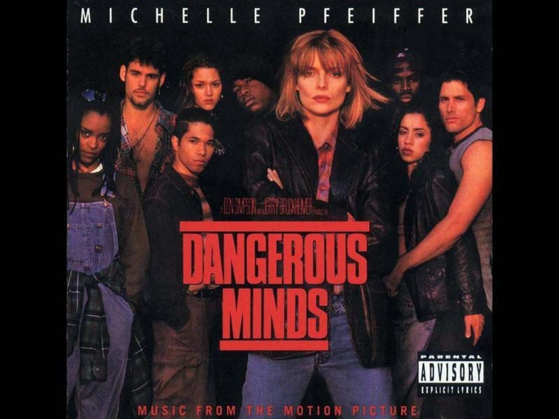 Louanne Johnson (Michelle Pfeiffer) is an ex-marine, hired as a teacher in a high-school in a poor area of the city. After a terrible reception from the students, she tries unconventional methods of teaching (using karate, Bob Dylan lyrics etc) to gain the trust of the students.