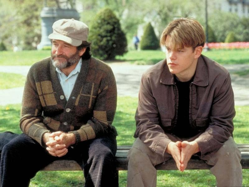 The tagline of this hugely acclaimed film is: Some people can never believe in themselves, until someone believes in them. Will Hunting, Matt Damon, a janitor at MIT, has a gift for mathematics but needs help from a psychologist, Robin Williams, to find direction in his life. The movie was written by Matt Damon and Ben Affleck.