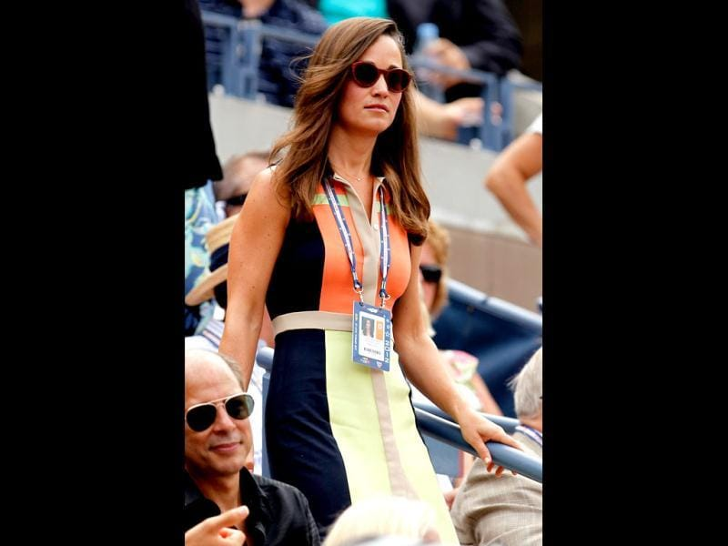 Pippa Middleton attends the women's singles quarterfinals match between Samantha Stosur of Australia and Victoria Azarenka of Belarus at the 2012 US Open, New York City. (AFP Photo)