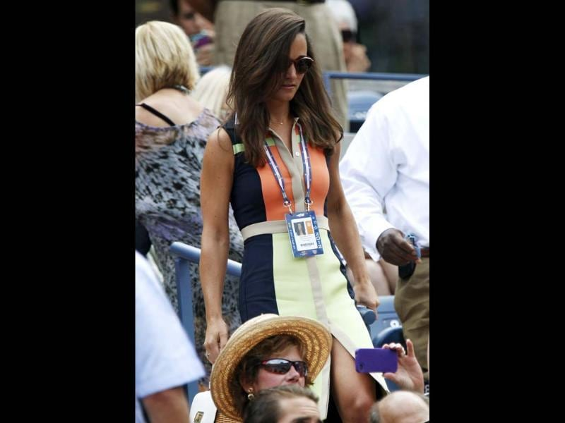 Pippa Middleton, the sister of Catherine, Duchess of Cambridge, arrives at the gallery at the US Open tennis tournament in New York September. (Reuters/Shannon Stapleton)