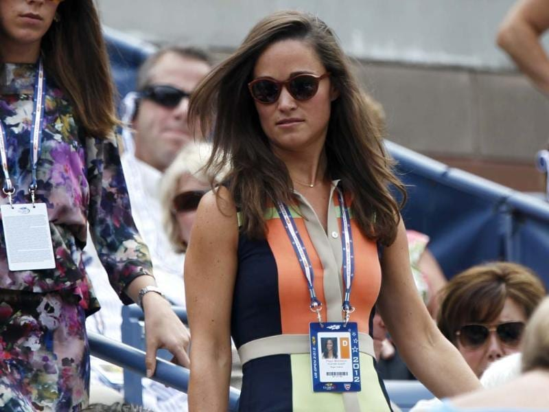 Pippa Middleton, the sister of Catherine, Duchess of Cambridge, arrives at the gallery at the US Open tennis tournament in New York. (Reuters/Shannon Stapleton)