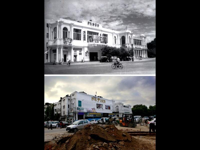 Connaught Place: Before and after facing civic apathy and maintenance. The project to take the British era market back to its glory days has missed every deadline. HT/Raj K Raj