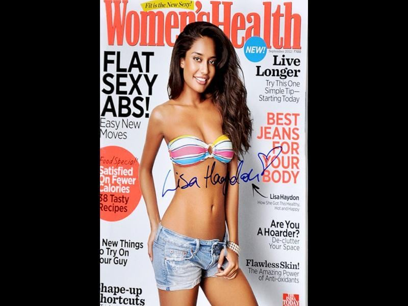 The autographed cover of Women's Health September issue.
