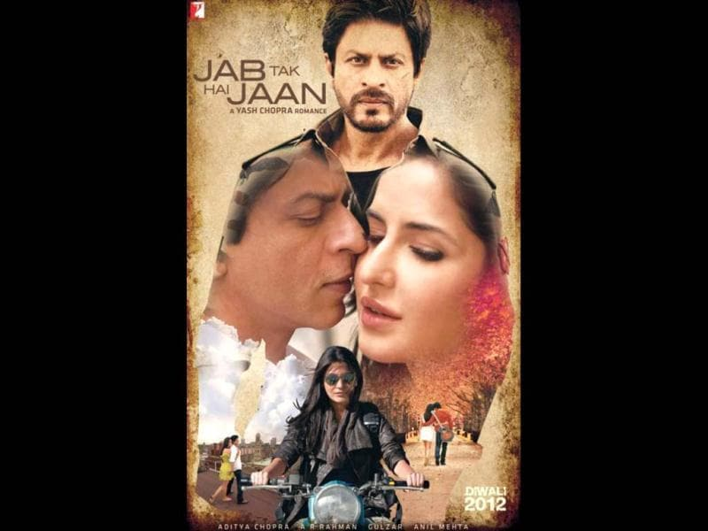 Yash Chopra's comeback film finally has a title- Jab Tak Hai Jaan. Here's a sneak peek of Shah Rukh Khan, Katrina Kaif and Anushka Sharma from the film.