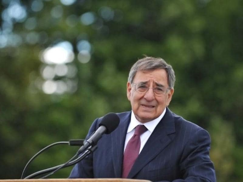 US defense secretary Leon Panetta speaks to reporters after visiting the Flight 93 national memorial ahead of the 11th anniversary of the 9/11 attacks in Shanksville, Pennsylvania. AFP