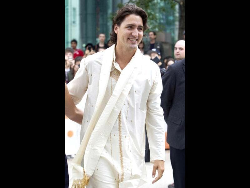 Canadian Member of Parliament Justin Trudeau arrives at the gala presentation for the film