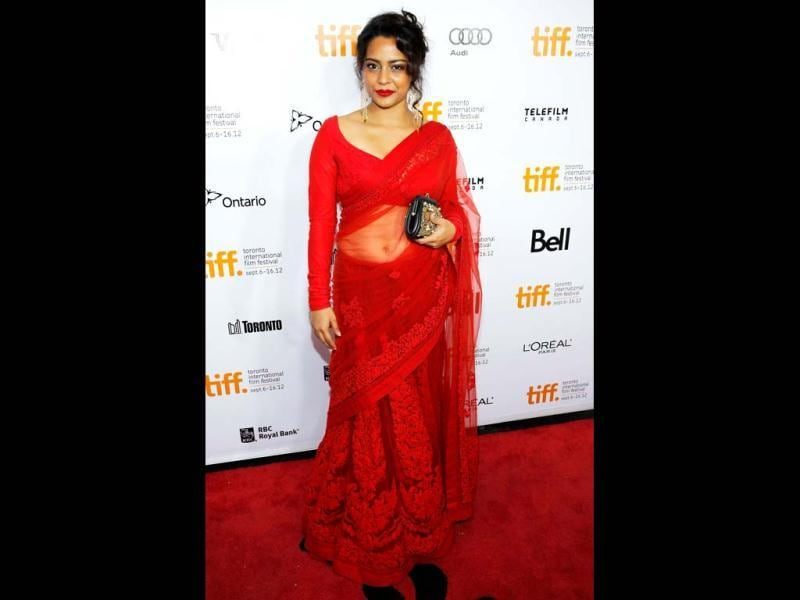 Shahana Goswami poses for the cameras at the 37th Toronto International Film Festival. She plays the character of Amina in Midnight's Children.