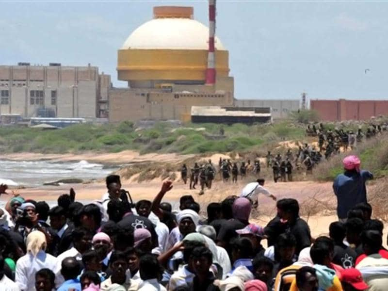 The situation in Tamil Nadu's Idinthakarai village, the epicentre of the movement against the Kudankulam nuclear project in Tirunelveli district, was under control on Wednesday after three days of protests. On Monday, police opened fire to clear a highway blocked by demonstrators protesting against the country's largest nuclear power project. A fisherman was killed in the police firing. Why are protesters opposed to the nuclear plant? What's the government response to their objections? Click through the gallery to know key facts about the controversy: