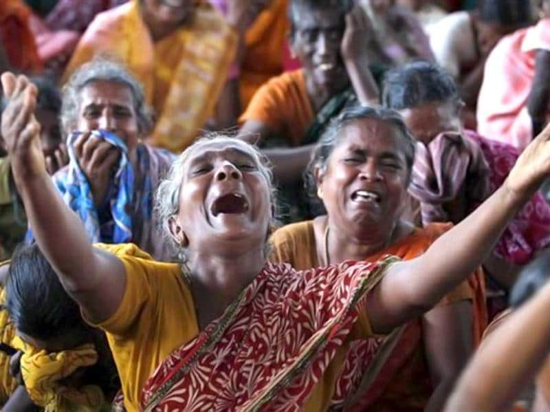 The Atomic Energy Regulatory Board last month gave clearance for fuel to be loaded into one of the Kudankulam plant's two reactors, one of the last steps before it can begin producing power. In this picture, women wail during a protest against the Kudankulam Atomic Power Project, near the project site. (AP Photo/Rafiq Maqbool)