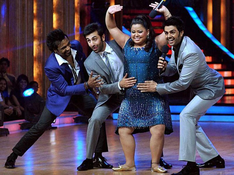 Celebs have fun on Jhalak Dikhla Jaa sets. (Photo: PTI)