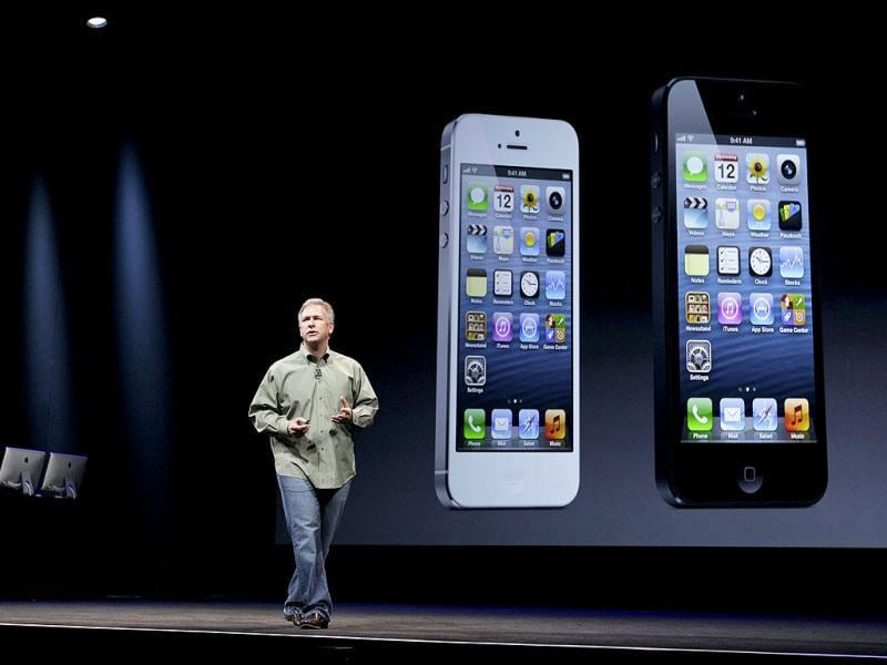 Phil Schiller, Apple's senior vice president of worldwide marketing, speaks on stage during an introduction of the new iPhone 5 in San Francisco. AP Photo
