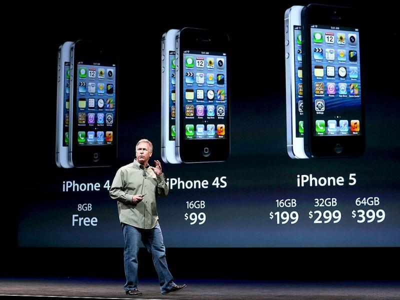 Phil Schiller announces the new iPhone 5 during an Apple special event at the Yerba Buena Center for the Arts in San Francisco, California. AFP Photo