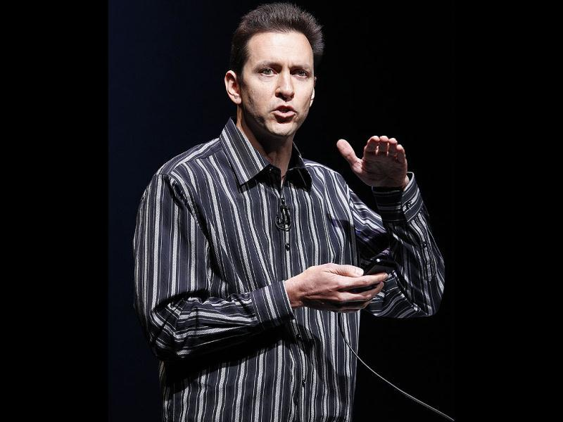 Scott Forstall speaks about software for iPhone 5 during an Apple event in San Francisco. AP Photo