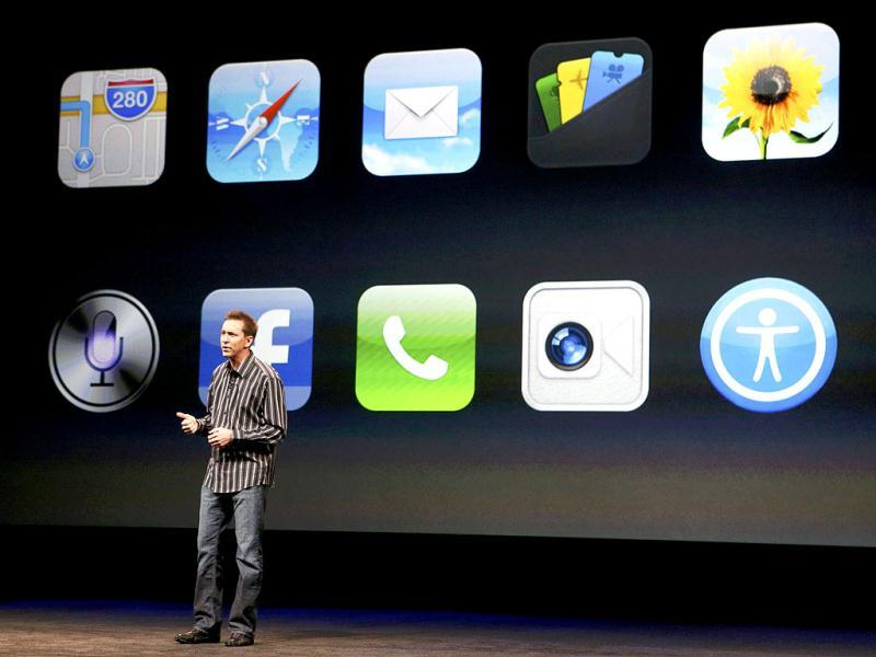 Scott Forstall speaks about iPhone5 apps during Apple Inc.'s iPhone media event in San Francisco. Reuters Photo