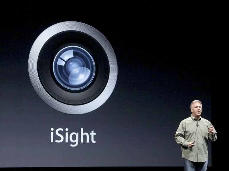 Phil Schiller speaks about iSight in the iPhone 5 during an Apple event in San Francisco. AP Photo