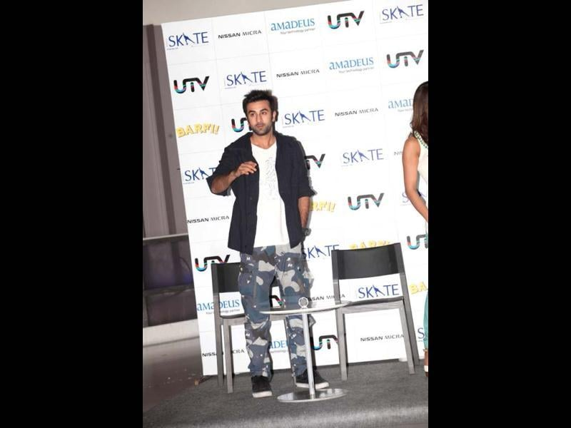Ranbir Kapoor in his usual casual style.