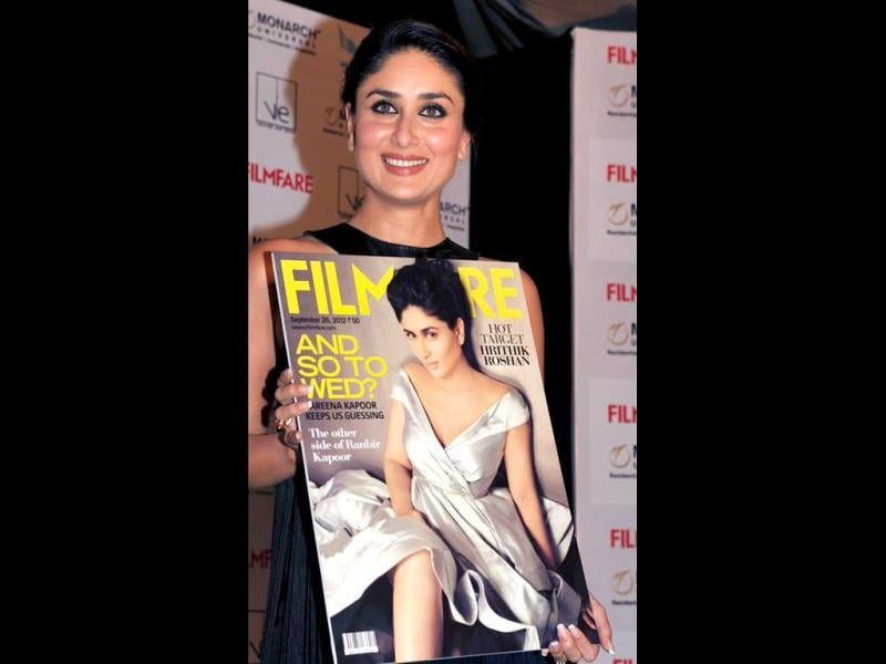 Kareena Kapoor unveils the cover page of Filmfare.