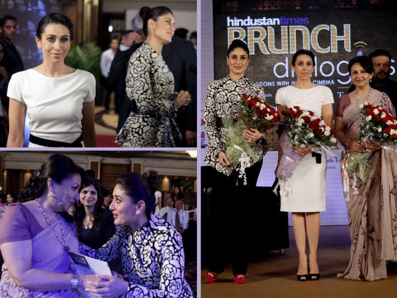 The red carpet of the Brunch Dialogues event at Taj Lands End was glittering with stars. Bollywood's who's who arrived at the sparkling event including the likes of the Kapoor sisters, Sharmila Tagore, Madhur Bhandarkar and many more celebs!