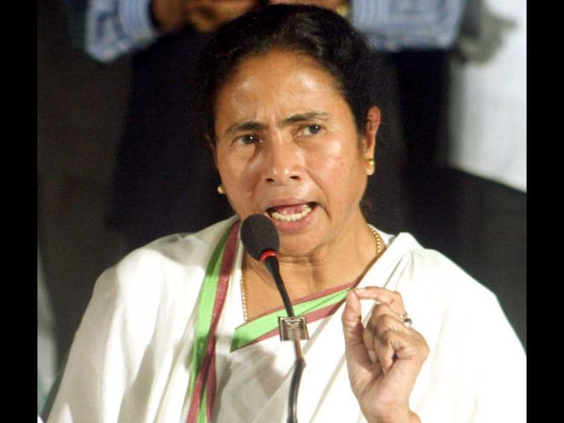 Trinamool Congress chief and West Bengal chief minister Mamata Banerjee at a press conference in Kolkata. (UNI)