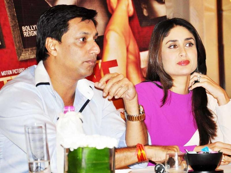 Director Madhur Bhandarkar and Actress Kareena Kapoor at a Press Conference For Their Film Heroine in New Delhi.