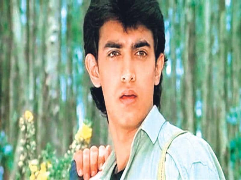 That's so cute (1988): Aamir's innocent face and chocolate boy looks took the nation by storm and won him a huge female fan following. He became the quintessential boy next door, and maintained the look through the 1990s.