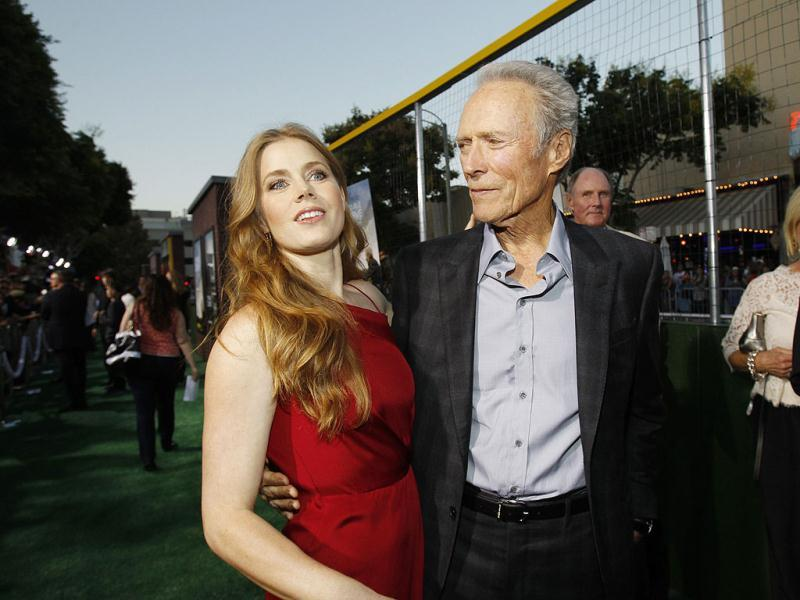 Cast members Clint Eastwood and Amy Adams attend the premiere of Trouble with the Curve at the Village theatre in Los Angeles, California. Reuters Photos