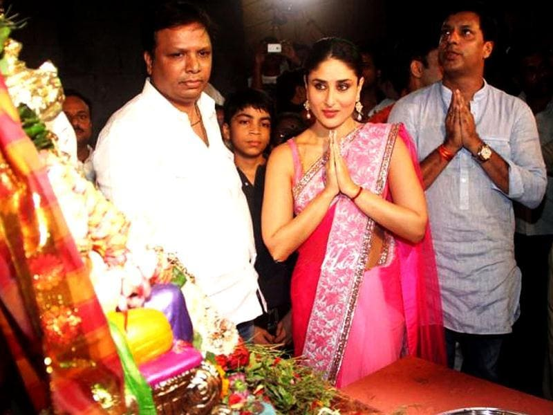 Kareena Kapoor is leaving no stone unturned as far as promoting Heroine is concerned. The actress along with director Madhur Bhandarkar offer prayers to Lord Ganesh during the festival Ganesh Chaturthi. Check out other stars as they celebrate the festival!