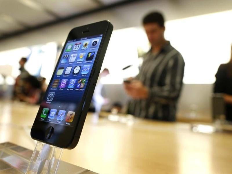 An iPhone 5 is displayed in an Apple store in central Sydney shortly after going on sale to the public. Reuters/Tim Wimborne