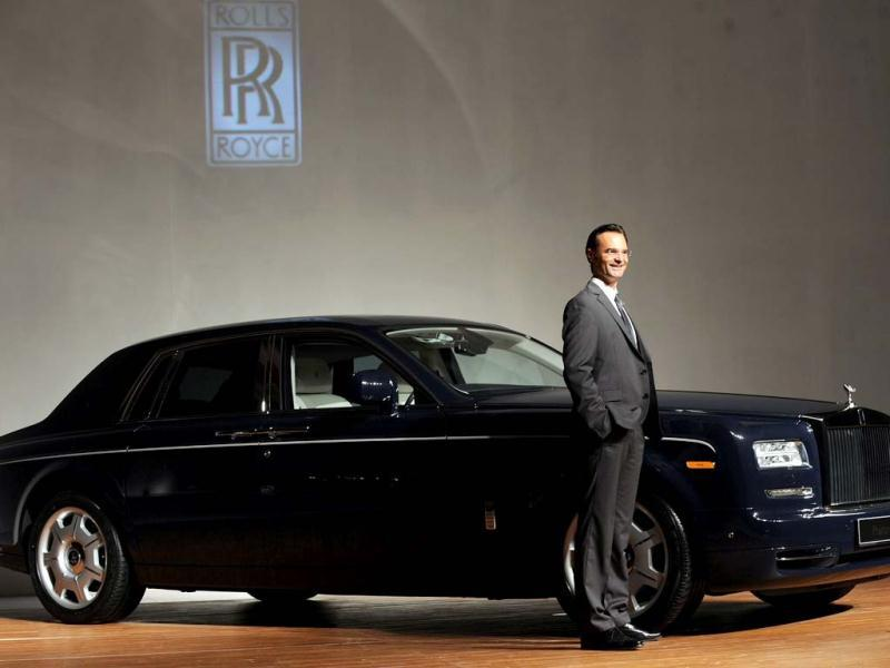 Rolls-Royce Motor Cars, General Manger, Emerging Markets - Asia, Herfried Hasenoehrl poses with a Rolls Royce Phantom Series II car as it is unveiled to the media. AFP Photo