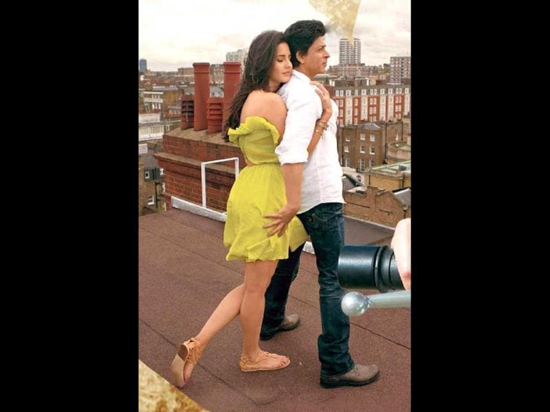 Katrina Kaif and Shah Rukh Khan will be romancing for the first time onscreen in Jab Tak Hai Jaan.