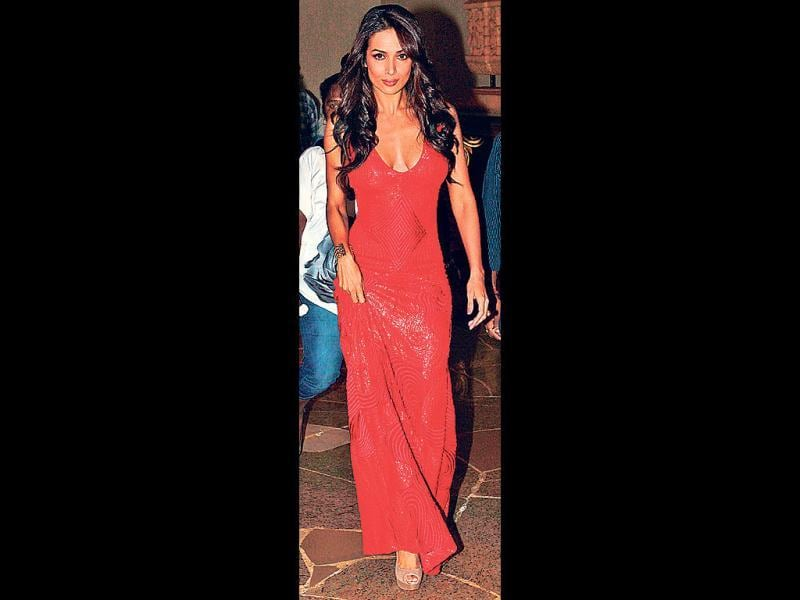 Malaika Arora Khan sizzled in a figure-hugging red Namrata Joshipura gown at a TV show launch in Mumbai.