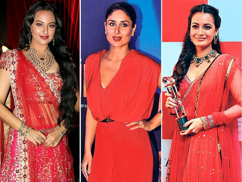 Sexy and dramatic — the colour red on film divas is making heads turn this season. Take a look at Bollywood's fashion forward women painting the town red, literally!