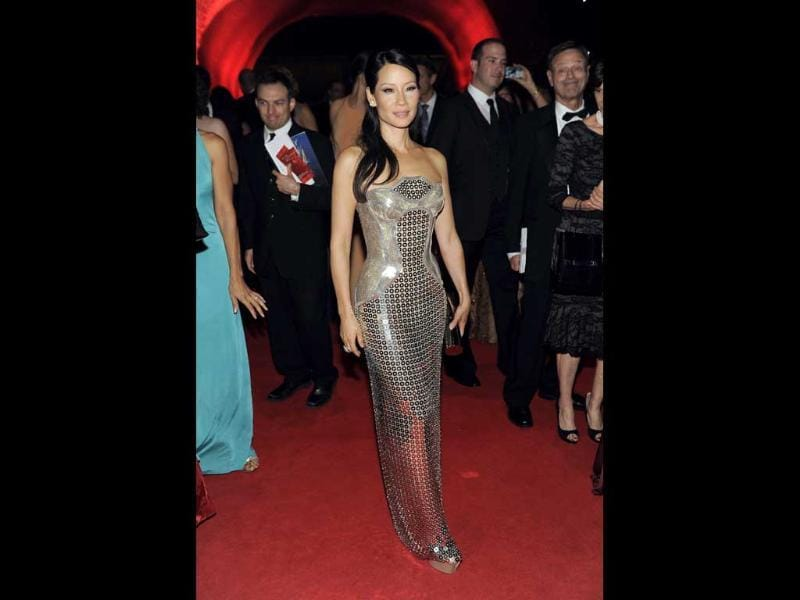 Lucy Liu arrives at the 64th Primetime Emmy Awards Governors Ball in Los Angeles. AP/Chris Pizzello