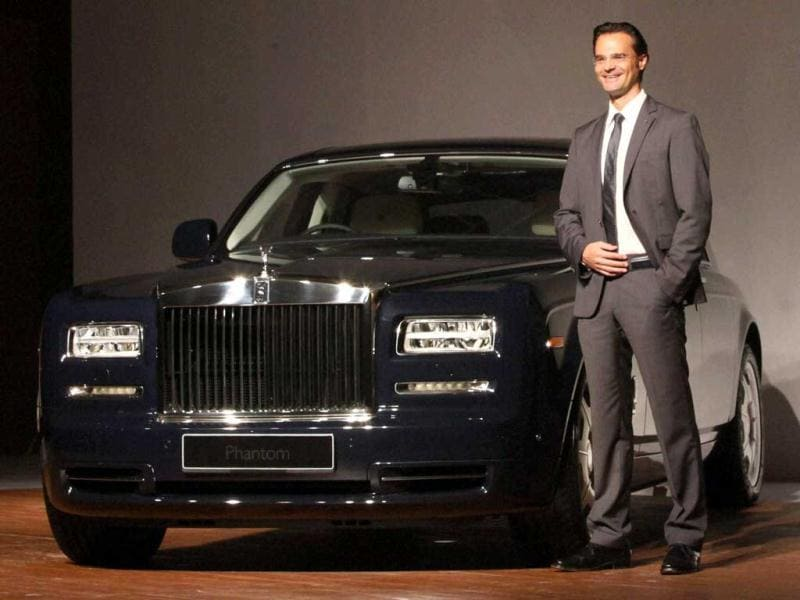Herfried Hasenoehrl, general manager, Emerging Markets Asia, Rolls-Royce Motor Cars, during the launch of Rolls-Royce Phantom Series II in Mumbai. PTI/Santosh Hirlekar