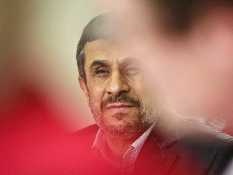 Iranian President Mahmoud Ahmadinejad during his visit for the 67th session of the United Nations General Assembly in New York. AP Photo