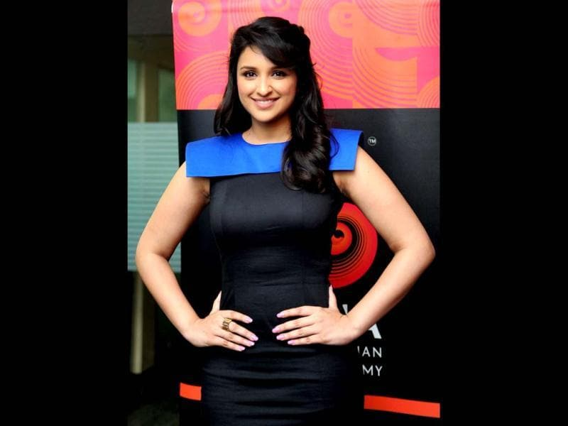 Bollywood actress Parineeti Chopra poses during the press meets for hosting the Gima Awards 2012 in Mumbai.