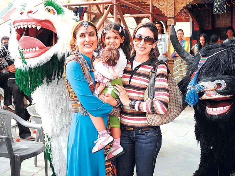 When Karisma gave birth to Samaira (7), who happens to look a lot like her father Sanjay, Kareena Kapoor was the most excited. Lolo and Samaira, often visited Kareena's film sets. Two years ago, Lolo gave birth to a baby boy who she named after her late granddad - Kiaan Raj Kapur (2).