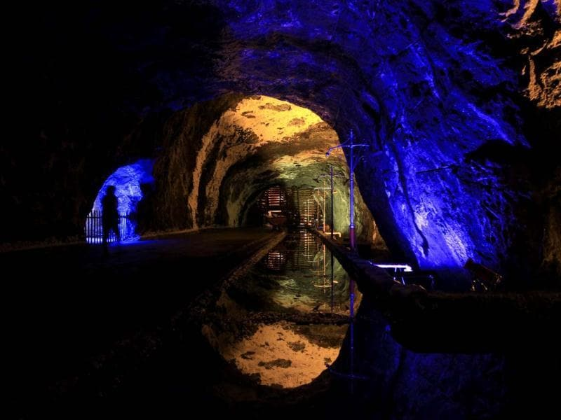 A visitor walks past the Chamber of the Mirrors, which is reflected in a saltwater pond, in the Nemocon salt mine. The mine is one of Colombia's most popular tourist attractions. Reuters photo