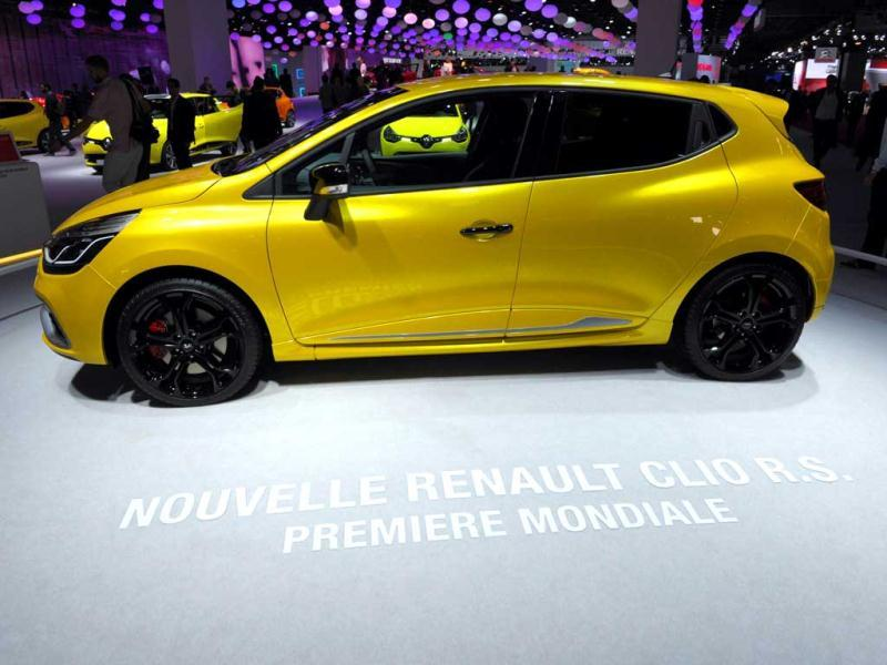The new Renault Clio R.S. is presented during the press days at the Paris Motor Show at the Porte de Versailles exhibition center in Paris. AFP Photo/Eric Piermont